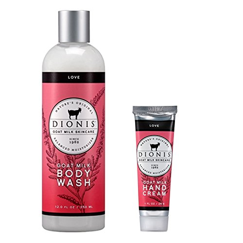Dionis Goat Milk Body Wash and Hand Cream 2 Piece Gift Set -