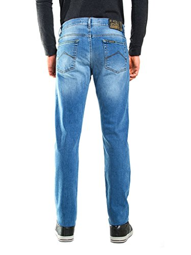 Mens Lavaggio Fit 501 Regular Wash Carrera Jeans 710 Stone Blu Chiaro super SxwrSqg