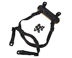 FMA 4 Points Tactical Helmet Accessories Retention System Chin Strap with Bolts and Screws for MICH ACH Fast IBH Helmet, Black Tan