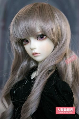BJD Doll Hair Wig 8-9 inch 20-22cm 1//3 SD DZ DOD LUTS gray pink F114