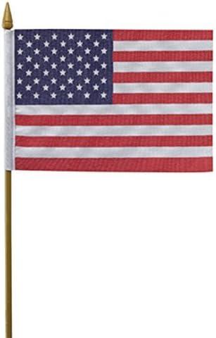 Amazon.com: 4 en x 6 en EE. UU. Bandera de Stick mejor ...