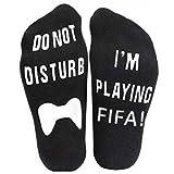 BCDshop Men Women Letter Print Funny Ankle Socks Unisex Soft Sock- Do Not Disturb I'm Gaming (Black 1)