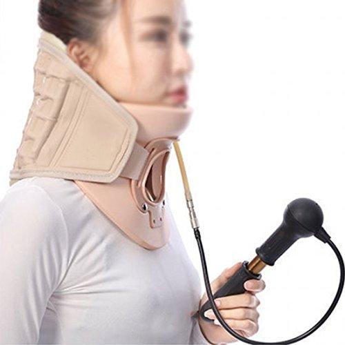 Genmine Cervical Collar Air Traction Device Orthosis Vertebra Neck Brace Cervical Tractor Vertebrae Support Belt with Pump for Neck Shoulder Back Pain