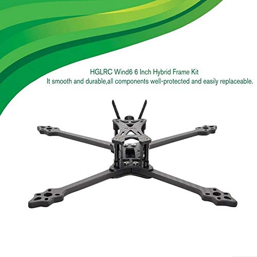 HGLRC Wind6 6 Inch Hybrid Frame Kit Arm 6mm for 6'' Propellers FPV Racing Drone by Wikiwand (Image #3)