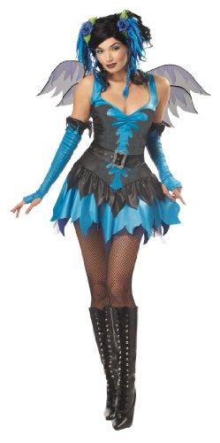 California Costumes Women's Twilight Fairy Costume, Turquoise/Black,Medium -