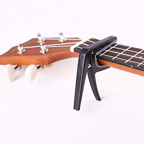 cejilla de Cambio r/ápido Accesorios de sujeci/ón Ukelele BANGBIU Cejilla port/átil para Guitarra