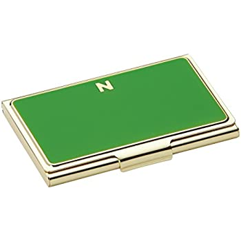 kate spade new york initial business card holders n green - Kate Spade Business Card Holder