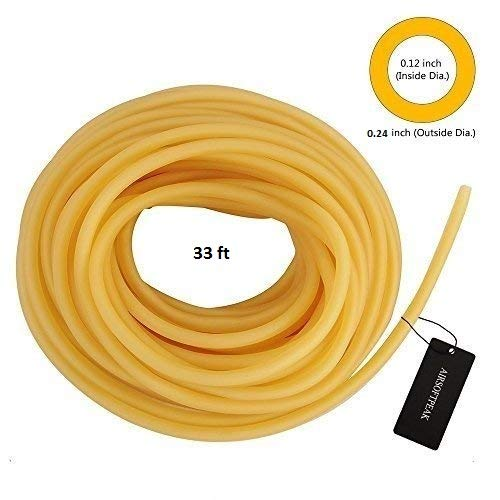 (AIRSOFTPEAK Natural Latex Rubber Tubing Speargun Band Slingshot Catapult Surgical Tube Rubber Hose 0.2