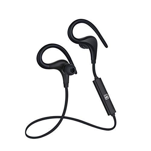 CIC Bluetooth Fone de Ouvido Esportivo Sports com Gancho Sem Fio Wireless In ear à prova de suor Isolamento de Ruído Externo, Preto