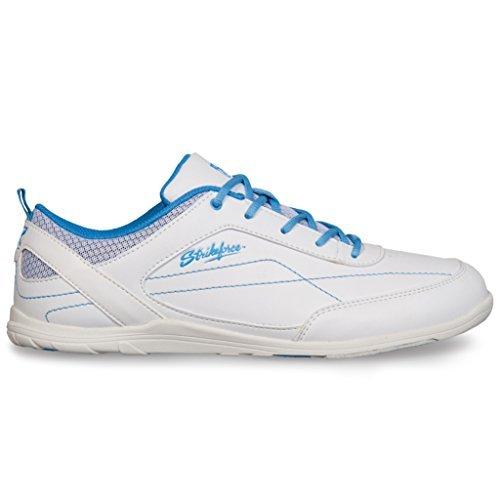 KR Strikeforce L-043-075 Capri Lite Bowling Shoes, White/Blue, Size 7.5
