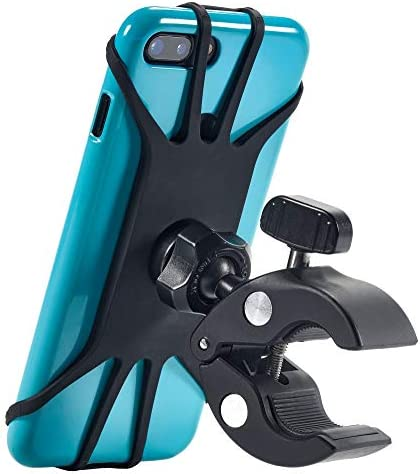 Upgraded 2021 Bicycle & Motorcycle Phone Mount – The Most Secure & Reliable Bike Phone Holder for iPhone, Samsung or Any Smartphone. Stress-Resistant and Highly Adjustable. +100 to Safeness & Comfort
