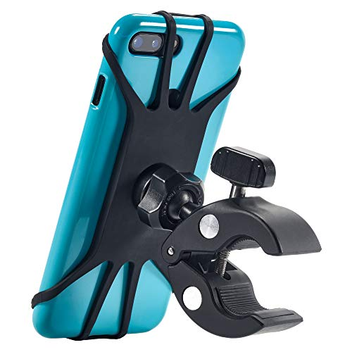 Upgraded 2021 Bicycle & Motorcycle Phone Mount - The Most Secure & Reliable Bike Phone Holder for iPhone, Samsung or Any Smartphone. Stress-Resistant and Highly Adjustable. +100 to Safeness & Comfort