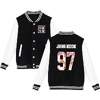 BTS Béisbol Chaqueta de Uniforme Chicos Bangtan Suga Jin Jimin Jung Kook Suéter Abrigo S Negro JUNG KOOK