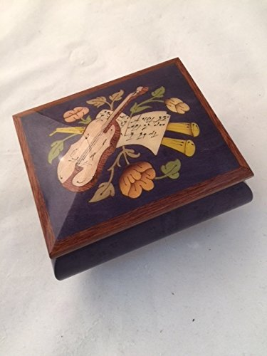 Made in Italy Sorrento inlay purple jewelry music box - Beauty and the Beast (Sankyo 18 notes) by Amazing Music Box