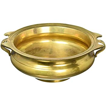 Handmade brass urli 3 by 8 inch uruli bowl for Artisan indian cuisine