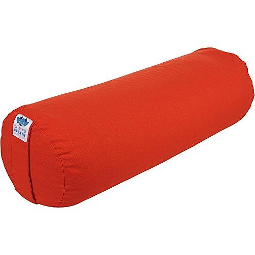 CalmingBreath Yoga Bolster Redondo, algodón - alforfón Lleno - Colores fantásticos!