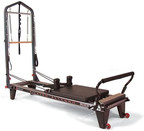 balanced body Allegro Tower of Power, Portable Pilates Reformer, Tower, and Mat, Home-Gym System, Full Body Workout