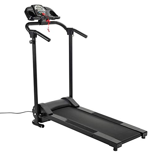 ZELUS Folding Treadmill for Home Gym, Portable Wheels, 750W Electric Foldable Running Cardio Machine with Cup Holder…