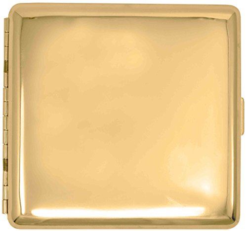 Gold Classic (Full Pack Kings) Metal-Plated Cigarette Case & Stash Box (Gold Metal Cigarette Case)