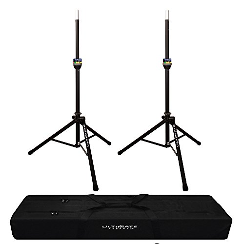 - 2x TS-90 TeleLock Speaker Stand with Padded Dual Tripod Tote Bag