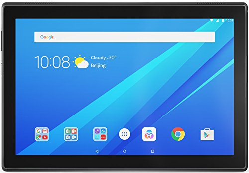Lenovo Tab 4, 10.1″ Android Tablet, Quad-Core Processor, 1.4GHz, 16GB Storage, Slate Black, ZA2J0007US