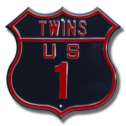 Authentic Street Signs Steel Route Sign: Twins US 1