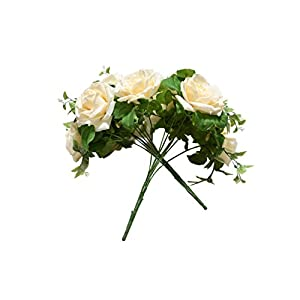 L.DA.DUO Artificial Flowers Fake Rose Silk Flowers n 10