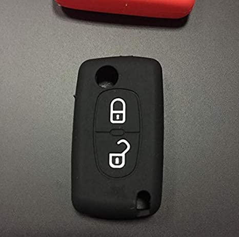 silicone Black key fob cover for Peugeot 208 207 3008 308 508 408 2008 407 307