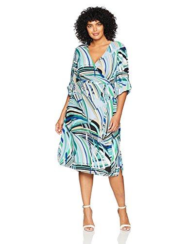 Robe green Papell Femme Blue Adrianna multi Ap1d102426w qHBzP