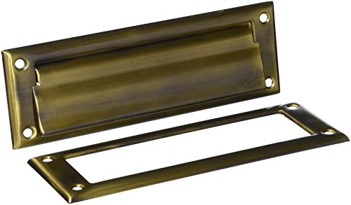 Deltana MS626U5 8 7/8-Inch Mail Slot with Solid Brass Interior Frame