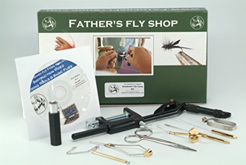 S.F. Products Standard+ Fly Tying Tool Kit with Vise, Tools, and Clamp Base - Plus DVD Instruction Video
