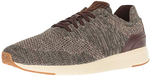 Cole Haan Men's Grandpro Runner Stitchlite Sneaker, deep Forest/Curds Cream Knit, 11 M US Deep Forest Mens Shoes