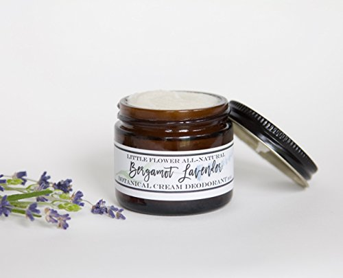 Natural Deodorant - Lavender Bergamot Cream Deodorant by The Little Flower Soap Co