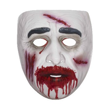 Transparent Bloody Zombie Mask (Mime Masks For Sale)