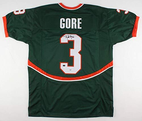Frank Gore Autographed Signed Memorabilia Miami Hurricanes Jersey - PSA/DNA Authentic ()