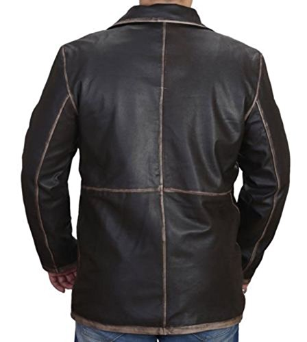 for Dean Leather Men Winchester Jackets Distressed Brown Super Natural 4aq7ZwwO