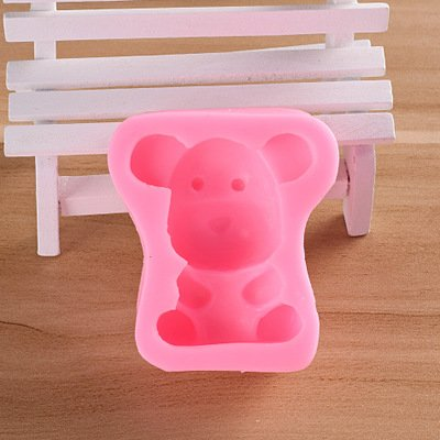 Candy Molds Silicone Silicone Bathroom Accessories 3D Bear Silicone Fondant Cake Molds Cupcake Decorating Tools Candy Chocolate Gumpaste Mold Kitchen Accessories ()
