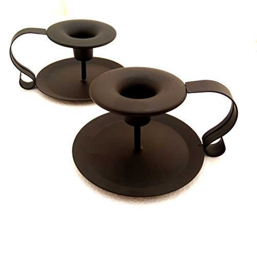Taper Candle Holder Metal Candlestick Holders Black Pack of (Black Taper Candle Holder)