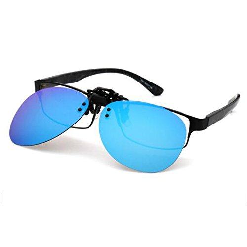 sol Clip miopizadas Hombre y Clips HD Color de polarizadas Mujeres Gafas blue Ice Gafas para WLHW Reflectante Mujeres de Oro Driver Hombres Universal Las tA5wxqS