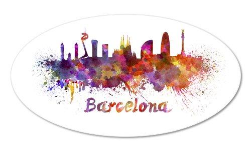barcelona colorful vinyl sticker car phone helmet