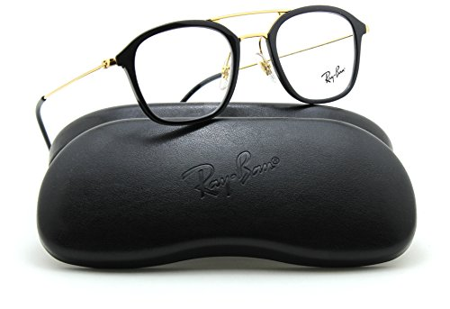 Ray-Ban RX7098 Square Unisex Prescription Eyeglasses 2000 - - Ban And Black Red Ray Eyeglasses