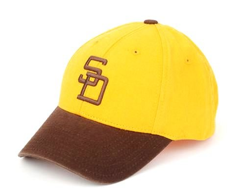 San Diego Padres MLB American Needle 1972 Cooperstown Pastime Replica Destructured Adjustable Cap - 1972 Vintage Replica Jersey