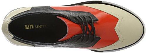 United Nude Geo Wing Mid, Zapatos de Cordones Derby para Mujer Beige - Beige (Mist Hot Red)