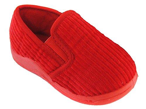 Kinder / Kleinkinder Schnur Hausschuhe Größen UK4 - UK10 Rot