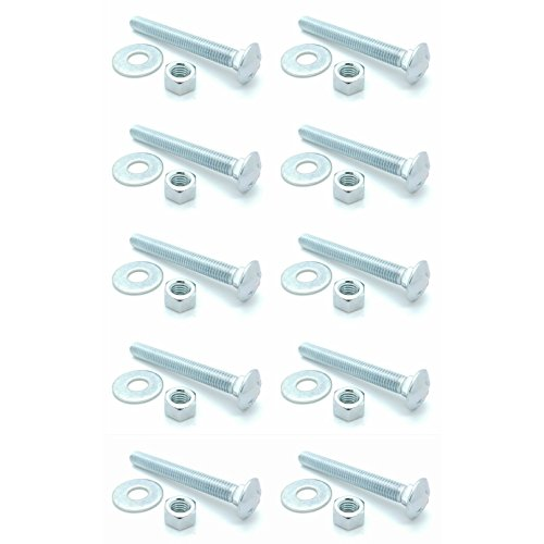 SNUG Fasteners (SNG348) Ten (10) 1/2-13 x 4'' Long Carriage Bolts Set w/Nuts & Washers by SNUG Fasteners (Image #3)