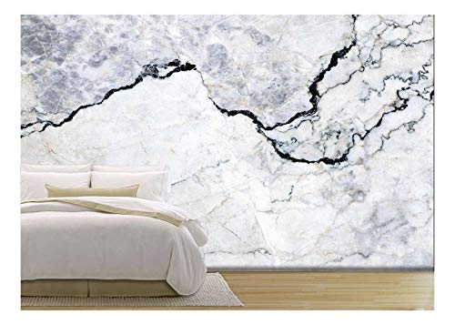 wall26 Marble Texture Background Pattern with High Resolution - Removable Wall Mural | Self-Adhesive Large Wallpaper - 100x144 inches