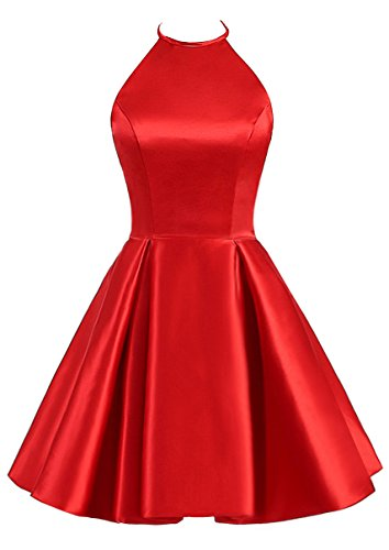 TBGirl Cute Strap Red Homecoming Dresses Mini Short Cocktail Party Dress Red8