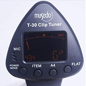 musedo t 30 guitar tuner new electric machine lcd digital keen chromatic tuning. Black Bedroom Furniture Sets. Home Design Ideas