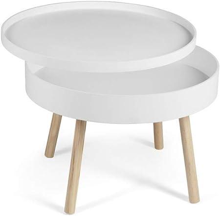 Lifa Living Table Basse Salon Blanche Table Basse Ronde Avec