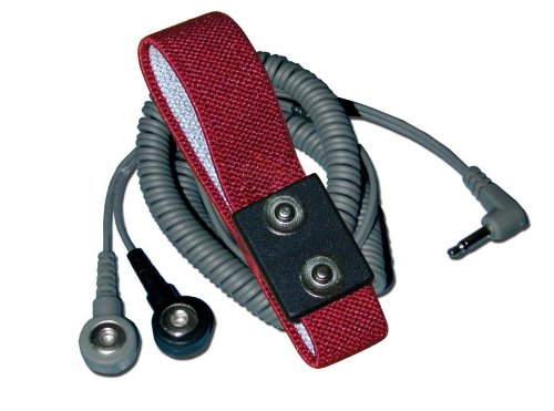 Transforming Technologies WB2585 - Fabric Wrist Strap Set - 12' Dual-Wire Coil Cord - 4 mm Dual-Snap - Maroon